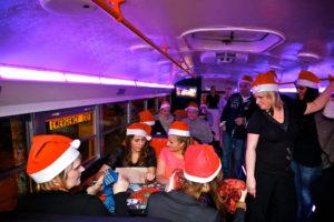 Weihnachtschallenge im Bus